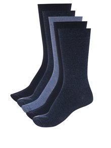 Sada pěti párů modrých pánských ponožek M&Co
