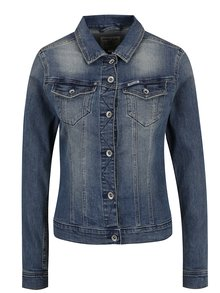 Modrá dámska rifľová bunda Garcia Jeans Sofia