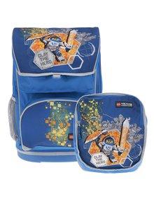 Modrá chlapčenská aktovka s batohom 2v1 LEGO Wear Nexo Knights 28 l