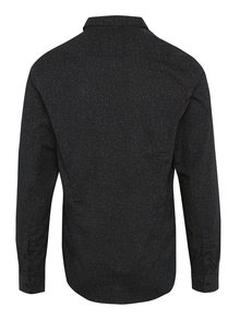 Tmavomodrá pánska vzorovaná košeľa s vreckom Garcia Jeans