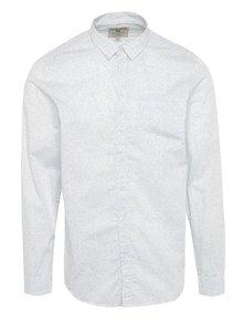 Biela pánska vzorovaná košeľa s vreckom Garcia Jeans