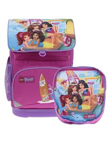 Ružová dievčenská aktovka s batohom 2v1 LEGO Wear Friends Beach House Small 22 l