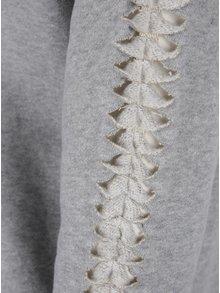 Světle šedé mikinové šaty s průstřihy na rukávech Garcia Jeans
