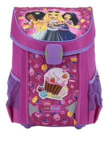 Ghiozdan roz cu print  LEGO Wear Friends Cupcake Easy 21 l