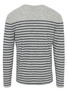 Bluză gri&bleumarin cu dungi Garcia Jeans pentru bărbați