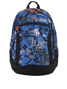 Modrý chlapčenský vzorovaný batoh Freelander Multi Compartment 30 l