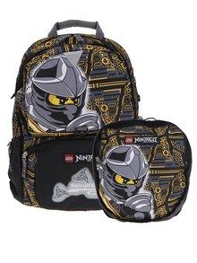 Čierno-žltý chlapčenský batoh s malým batohom 2v1 LEGO Wear Ninjago Cole 33 l