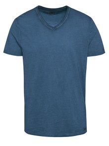 Modré pánske tričko s véčkovým výstrihom Garcia Jeans Marco