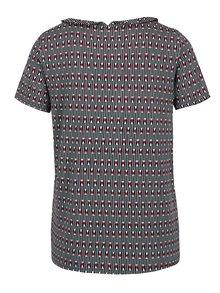 Zelené vzorované tričko s límečkem Blutsgeschwister