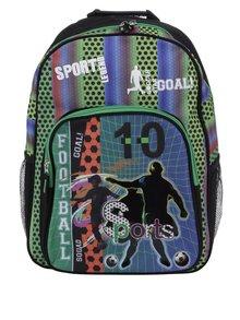 Modro-zelený chlapčenský vzorovaný batoh 19 l Freelander Football