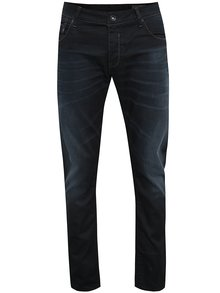 Tmavě modré pánské džíny s vyšisovaným efektem Garcia Jeans Russo