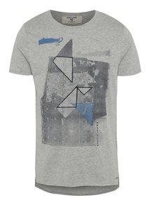 Sivé pánske tričko s potlačou Garcia Jeans