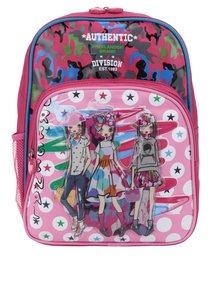 Ružový dievčenský vzorovaný batoh s 3D potlačou Freelander Authentic Single
