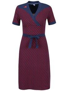 Červeno-modré vzorované šaty Blutsgeschwister