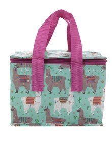 Zelená pikniková taška s motívom lám Sass & Belle Lima Llama