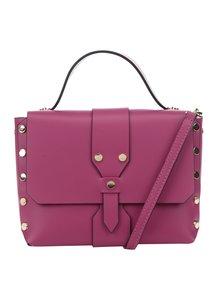 Růžová kožená crossbody kabelka ZOOT