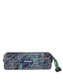 Modro-zelený chlapčenský vzorovaný peračník Freelander Multi Zip