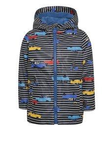 Modrá chlapčenská nepremokavá bunda s motívom áut Tom Joule