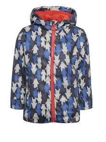 Modrá detská vodovzdorná bunda s motívom medveďov Tom Joule
