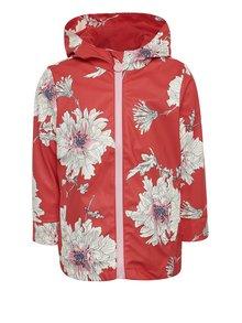 Červená dievčenská vodovzdorná kvetovaná bunda Tom Joule