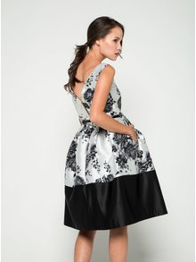 Rochie crem&negru Closet cu imprimeu floral