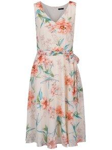 Světle růžové květované šaty se zavazováním M&Co