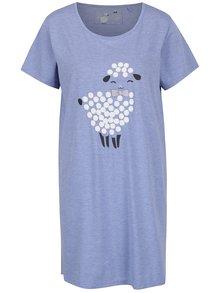 Modrá žíhaná noční košile s potiskem ovečky M&Co