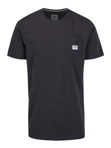 Šedé pánské tričko s kapsou adidas Originals