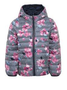 Růžovo-modrá holčičí prošívaná bunda Tom Joule