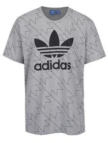Světle šedé vzorované pánské triko adidas Originals
