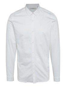 Krémová slim fit košeľa Jack & Jones Premium Knit