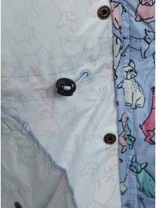 Modrá holčičí šusťáková parka s motivem psů Tom Joule
