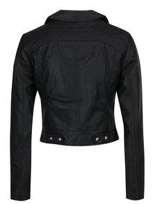 Čierna krátka koženková bunda TALLY WEiJL