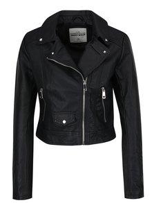 Černá krátká koženková bunda TALLY WEiJL