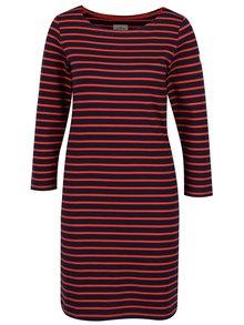 Modro-červené dámske pruhované šaty Tom Joule