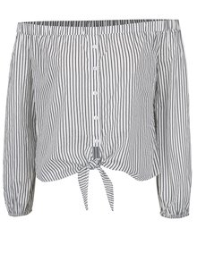 Bluză alb&negru cu dungi și decolteu pe umeri TALLY WEiJL