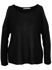 Čierny sveter s prestrihmi na rukávoch ONLY Sky