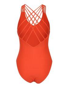 Oranžové jednodielne plavky s pásikmi na chrbte Y.A.S Sage