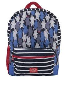 Modrý chlapčenský vzorovaný batoh Tom Joule