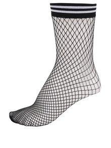 Čierne sieťované ponožky s pruhmi TALLY WEiJL