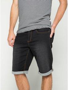 Tmavě šedé pánské džínové kraťasy s vyšisovaným efektem s.Oliver