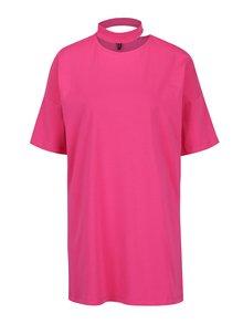 Ružové oversize tričko s chokerom VERO MODA Jelica