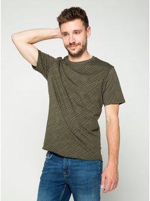 Kaki vzorované tričko ONLY & SONS Huxie