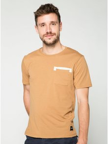 Svetlohnedé tričko s vreckom ONLY & SONS Low