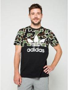 Čierne pánske maskáčové tričko s krátkym rukávom adidas Originals