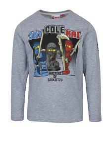 Bluză gri cu mâneci lungi și print frontal Lego Wear Teo pentru băieți
