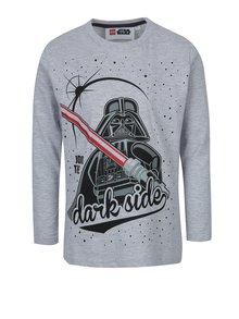 Bluză gri cu print Darth Vader Lego Wear pentru băieți