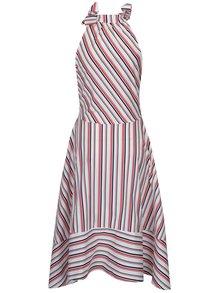 Červeno-bílé pruhované midišaty s ramínky na zavazování Aer Wear