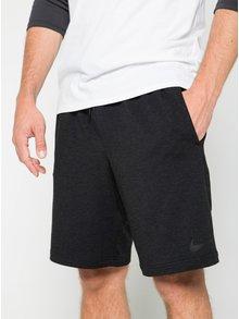 Tmavě šedé pánské teplákové kraťasy s kapsami Nike Dry