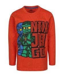 Bluză portocaliu aprins cu print Lego Wear pentru băieți